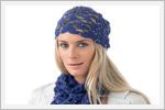 مدل کلاه و شال قلاب بافی زنانه