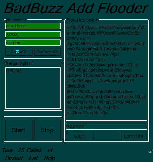 badbuzz Remoter Add Flooder V1 Addflood