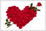 والپیپیرهای زیبا از گل رز و قلب