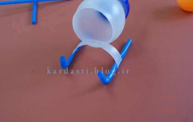 ساخت هلیکوپتر جالب با بطری پلاستیکی