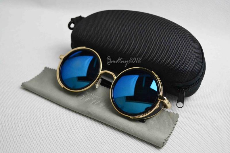 خرید اینترنتی عینک آفتابی پرادا صفحه گرد شیشه آبی