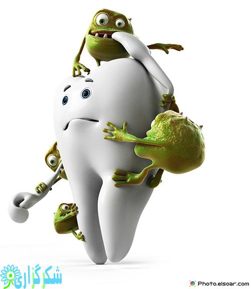 پوسیدگی پوسیده شدن دندان ها دندان درد قند کربوهیدرات ها