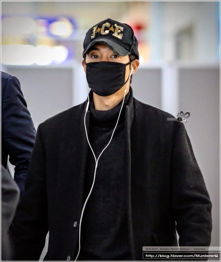 [MurdererQ Photo] Kim Hyun Joong - Komatsu Airport Departure + New Chitose Airport Arrival [15.02.01]