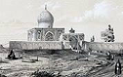 www.QazvinAstan.ir نقاشی اوژن فلاندن در سال ۱۲۲۰ خورشیدی آستان حضرت حسین بن علی بن موسی الرضا (ع) تصاویر قدیمی آستان مقدس حضرت حسین بن علی بن موسی   الرضا (ع)