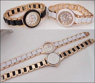 خرید پستی ساعت مچی زنانه سرامیکی دو رنگ مختلف