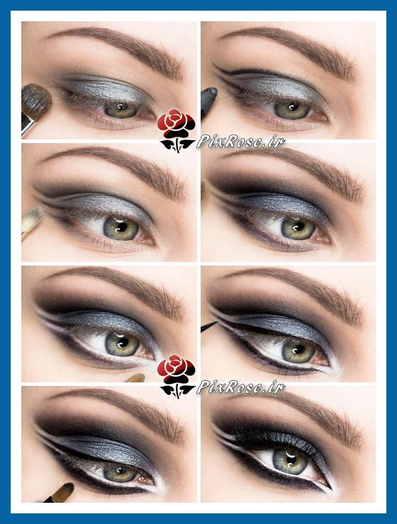آرایش چشم آبی ملایم