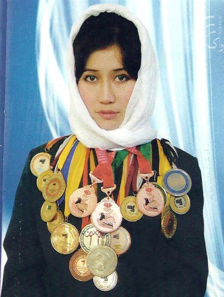 دختر مدرن ورزشکار افغانستان