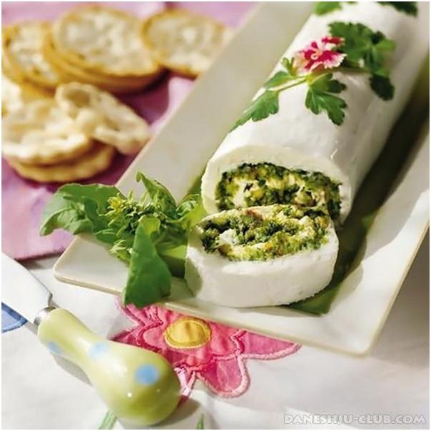 رولت پنیر برای تزئین سفره