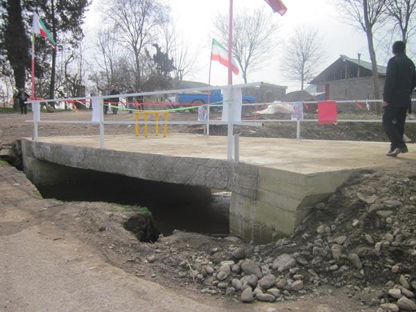 ماسال نیوز افتتاح پل روستای در روستای پیرسرای شاندرمن