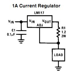 منبع جریان خطی با LM317