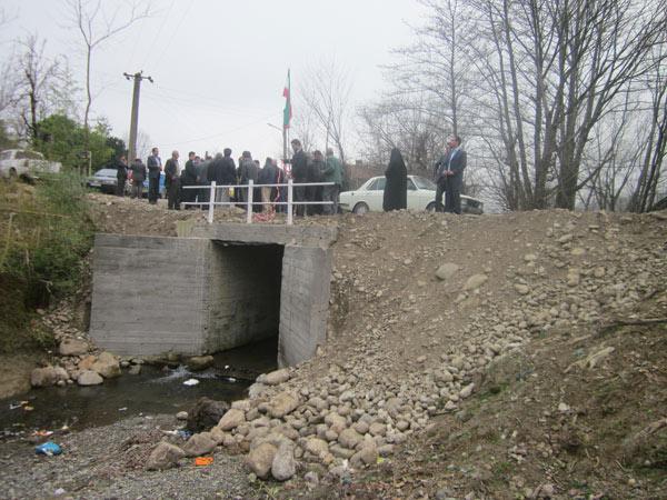 ماسال نیوز افتتاح پل در بخش مرکزی ماسال