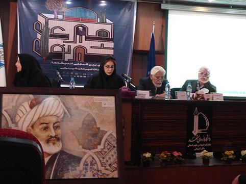 دکتر حسین محمدزاده صدیق مدیریت جلسه در همایش امیر علیشیر نوایی