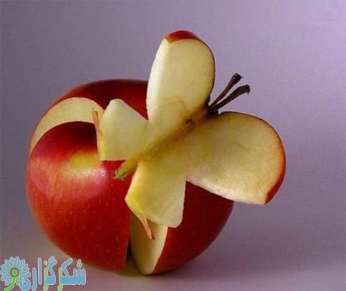 عکس سیب تصویر تزئیین میوه آرایی سیب خواص فواید صبحانه خوردن