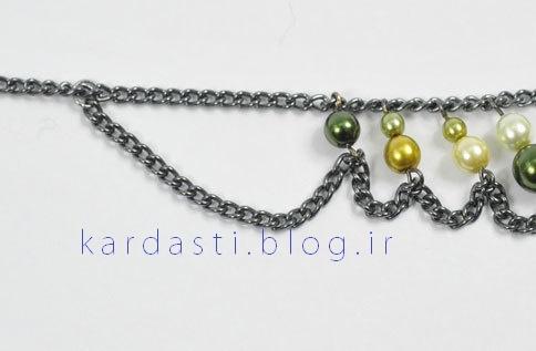 آموزش ساخت گردنبند زیبا با مروارید رنگی