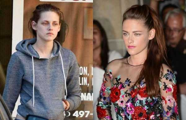 عکس کریستین استوارت قبل و بعد آرایش