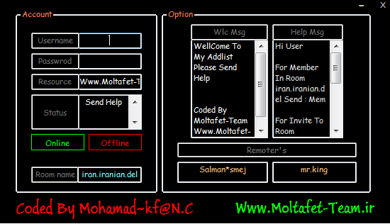 Soft + Source Code C# Bot Pv Member & Inviter By Moltafet Team Mmbot