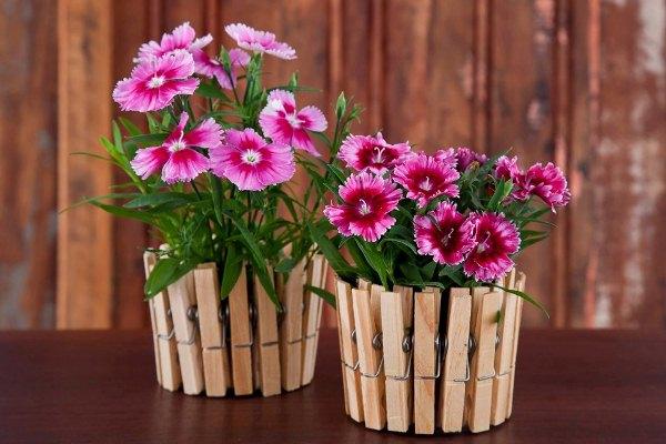 آموزش ساخت گلدان با گیره لباس