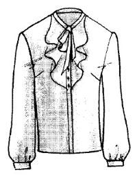 الگوی بلوز یقه حلزونی