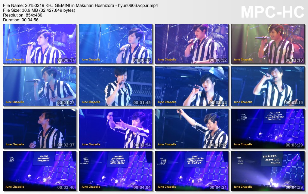 [Fancams] Kim Hyun Joong Japan Tour 2015 GEMINI in Makuhari [15.02.19~20]