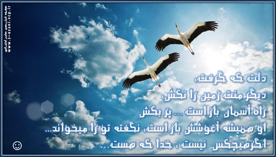 دلت که گرفت منت زمین را نکش...به آسمان پربکش _صفحه شخصی صابر اذعانی