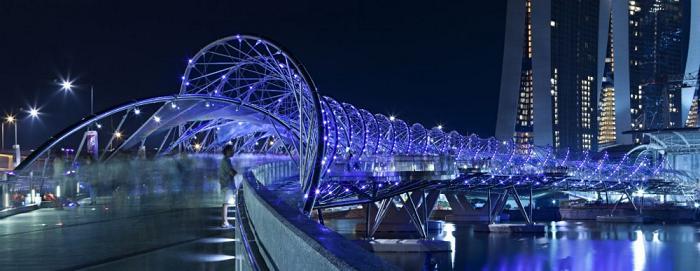 'گردشگری خوب _ پلهای دیدنی _ پل مارپیچ ، سنگاپور