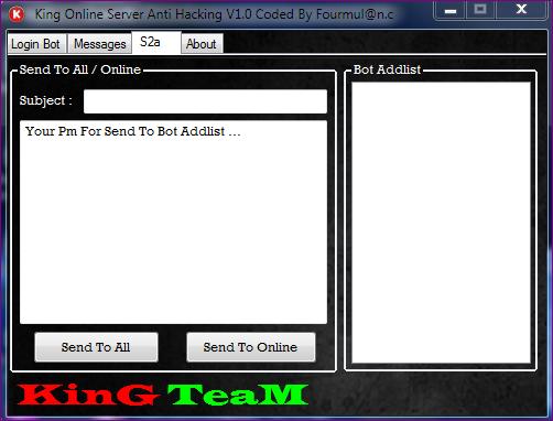 King Online Server Anti Hacking V1.0 Coded By boy,17 Fourmul@n.c Capture3