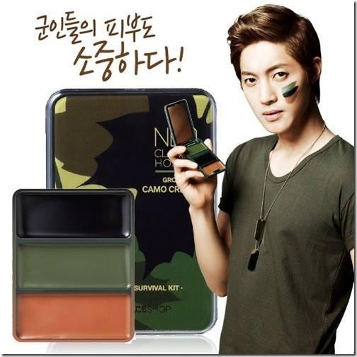 Kim Hyun Joong The Face Shop New Promo Photos - Looks Good on a Camo Shirt