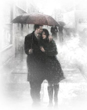 چتر و باران و عشق