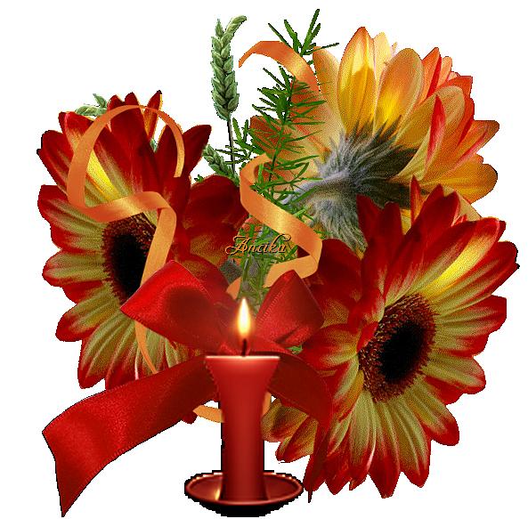 شکلک های متحرک گل و شمع, عکس های متحرک گل و شمع, تصاویر متحرک گل و شمع