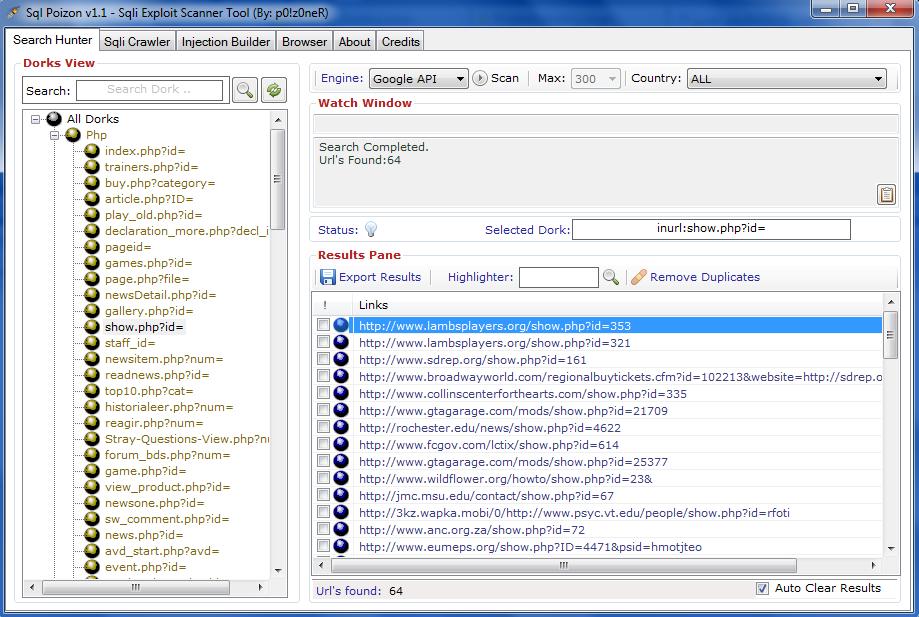 پیدا و شناسایی سایت های باگ دار برای هک و نفوذ/SQL Poizon Spoizon
