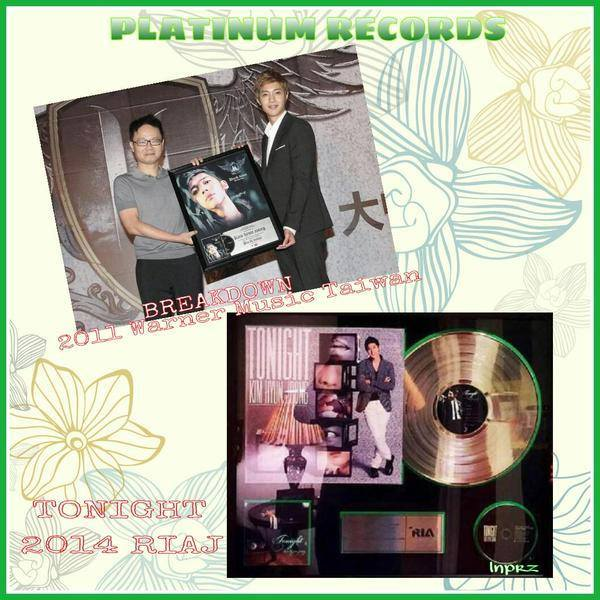 KHJ Platinum Records for Break Down in 2011 @ Taiwan And for Tonight in 2014