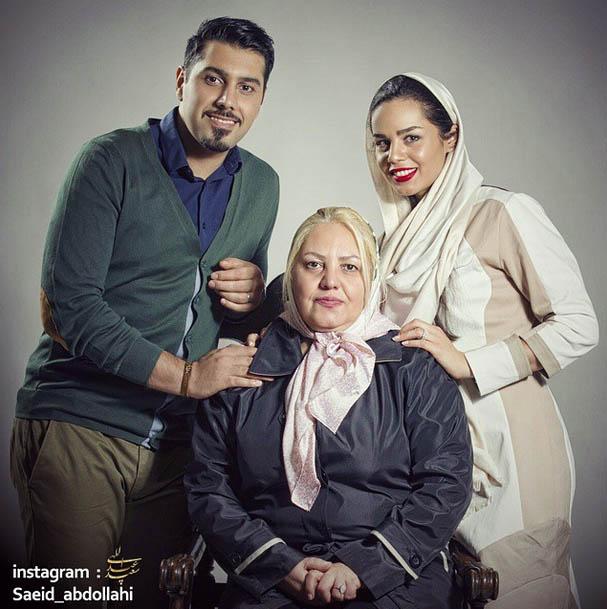 مادر و و همسر احسان خواجه امیری