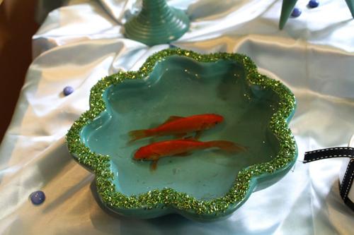 حوضچه ماهی گلی سفره هفت سین عروس و عیدی خاله فاطمه در نوروز 1394