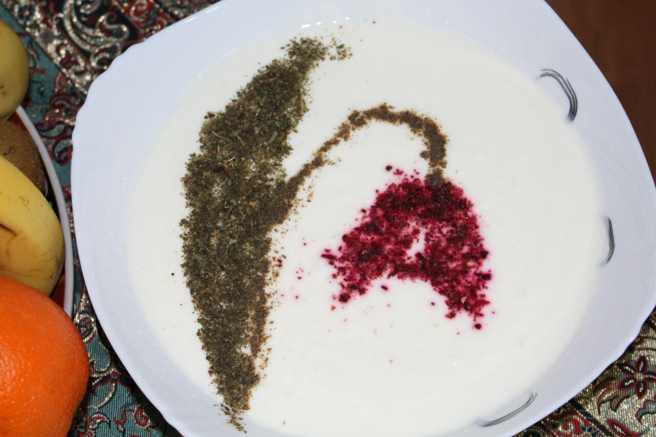 تزیین ماست هفت سین عروس و عیدی خاله فاطمه گل لاله در نوروز 1394
