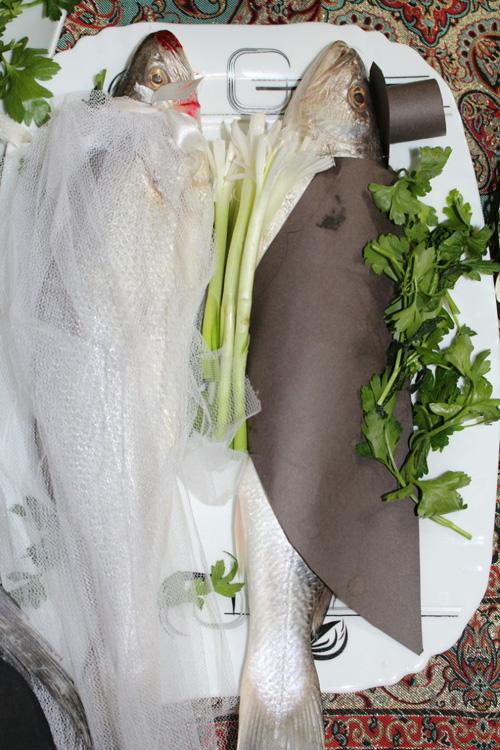 تزیین ماهی هفت سین عروس و داماد و عیدی خاله فاطمه در نوروز 1394
