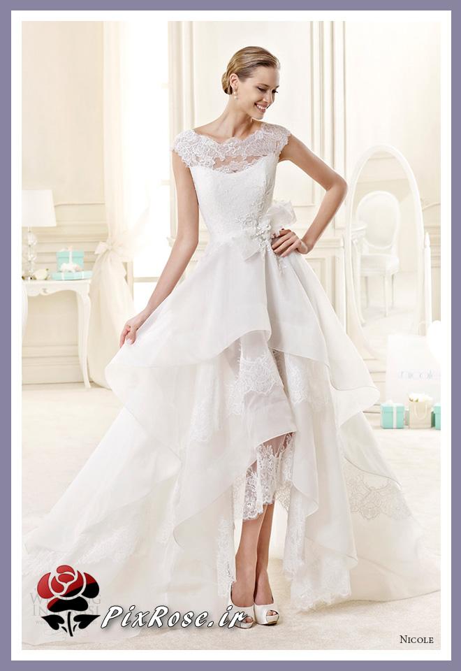مدل لباس عروس یقه پوشیده