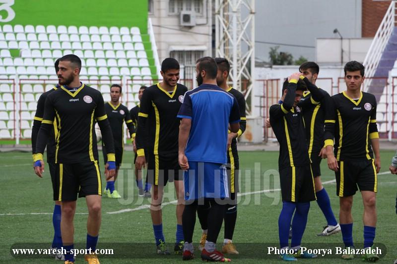 گزارش تصویری تمرین داماش  پیش از بازی شهرداری بندرعباس