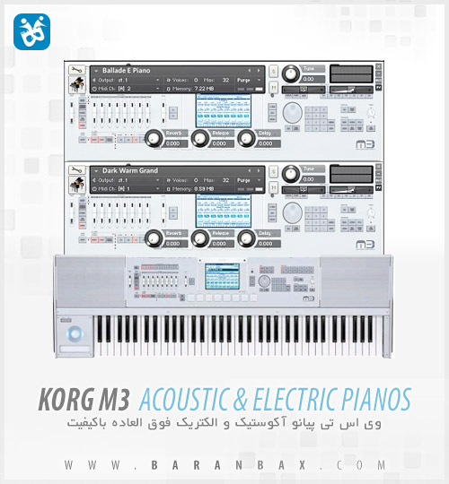 دانلود Korg M3 Acoustic And Electric Pianos - پیانو الکتریک
