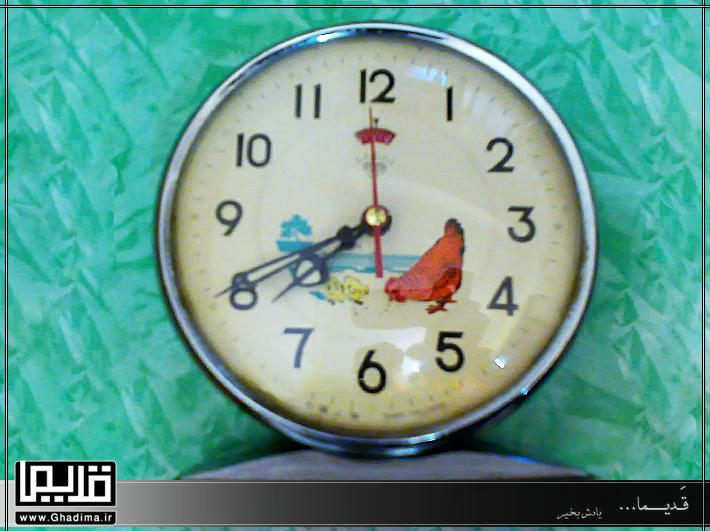 ساعت رومیزی مرغی