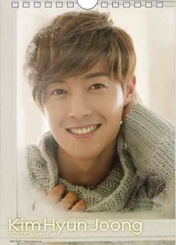 Kim Hyun Joong 2013 Desktop Calendar