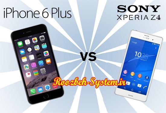 مقایسه و بررسی فنی گوشی موبایل Sony Experia Z4 با Iphone 6 Plus