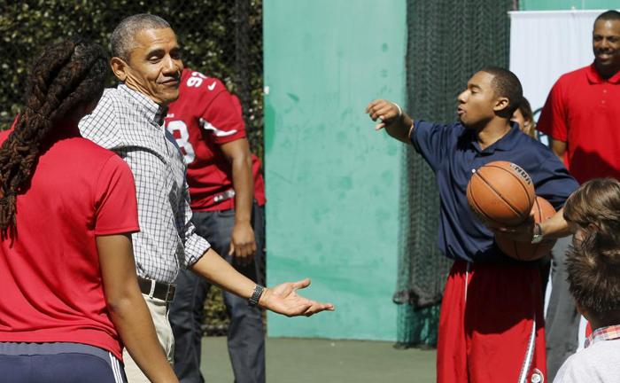 روز شاد اوباما در کاخ سفید