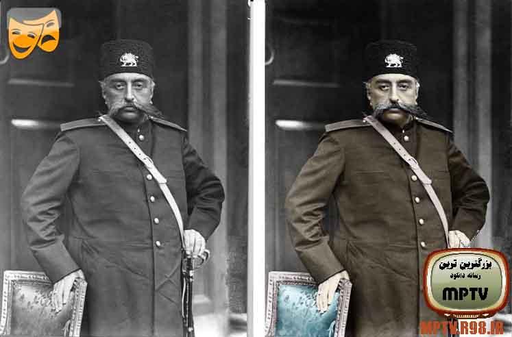 عکس مظفردین شاه قاجار فتوشاپ شد به صورت حرفی با کیفیت بالا