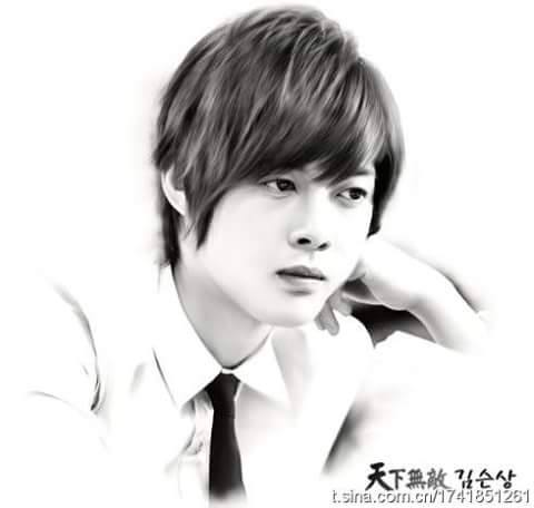 Sketch Pictures of KHJ in Playful Kiss