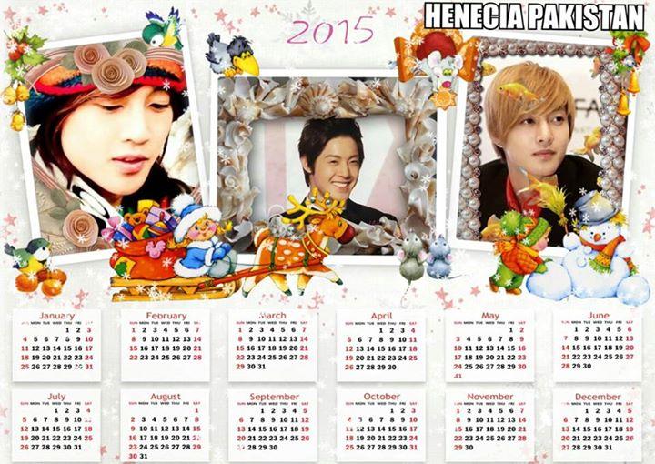 Kim Hyun Joong 2015 Calendar