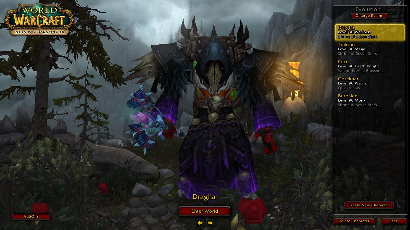 فروش هیرو Warlock - dragha - سرور WowZone