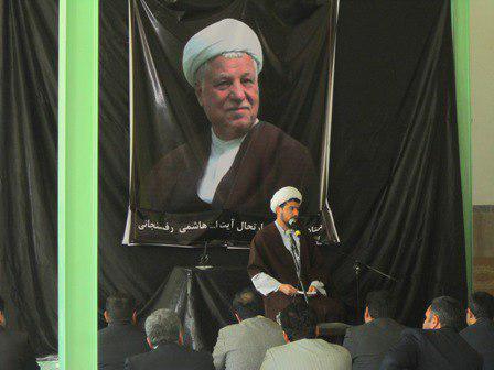مجلس ترحیم هاشمی رفسنجانی در روداب