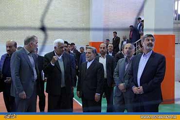 آیینه یزد - تجلیل از مقام معلم و افتتاح سالن ورزشی مجتمع آموزشی حضرت مجتبی(ع)