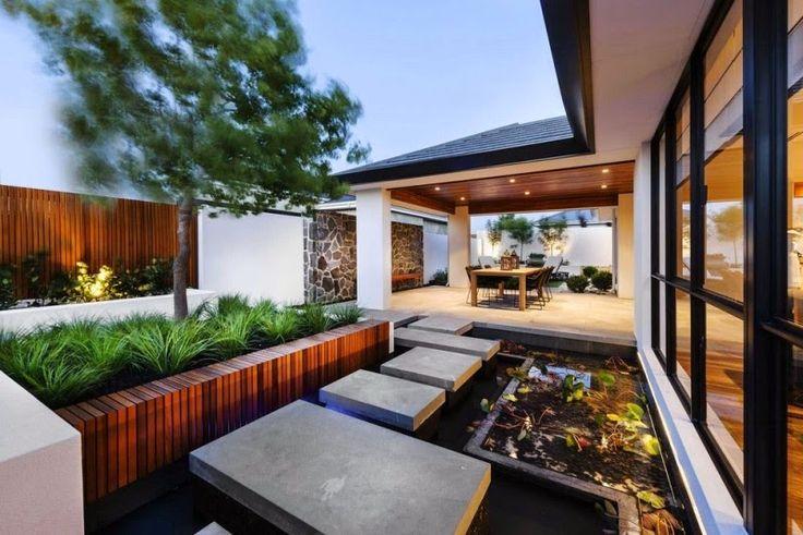 طرح و ایده زیبا برای حیاط خانه