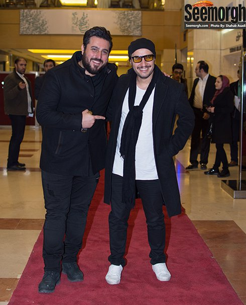 جواد عزتی و محسن کیایی در افتتاحیه جشنواره فیلم فجر 35